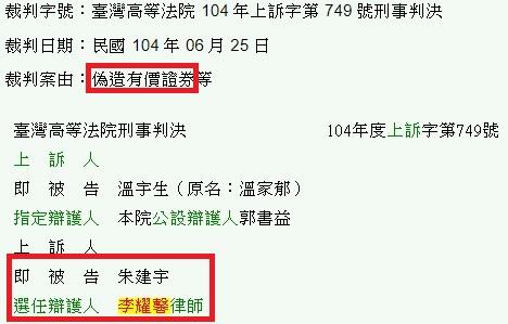 偽造有價證券-臺灣高等法院 104 年上訴字第 749 號刑事判決